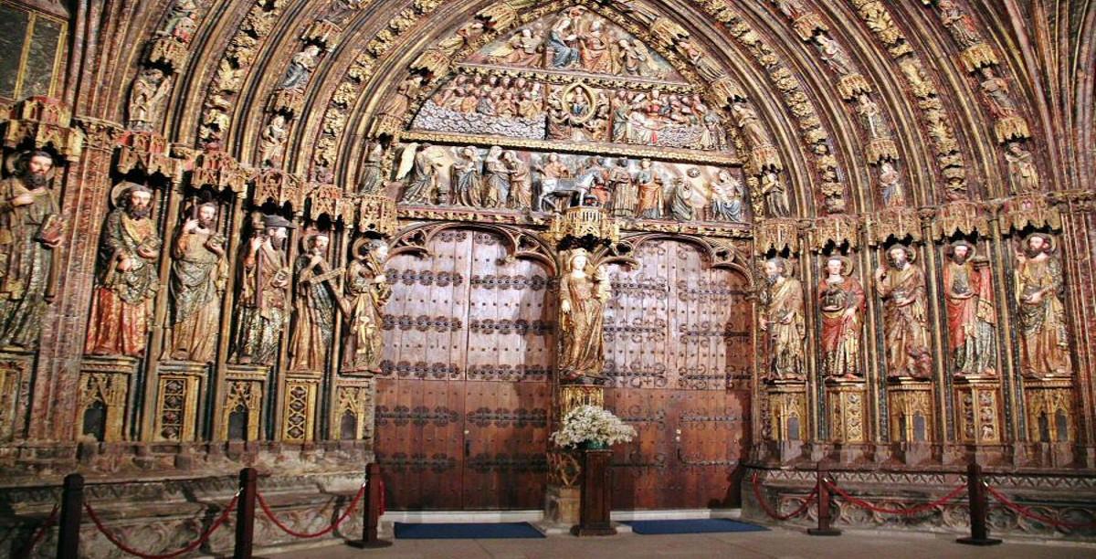 Portico iglesia. Laguardia